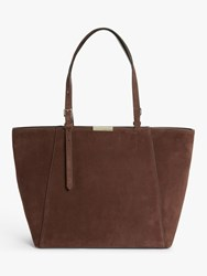 Coccinelle Cher Suede Tote Bag Chocolate