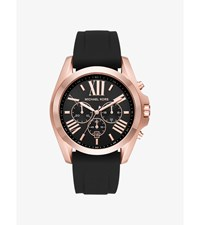 Bradshaw Rose Gold Tone And Silicone Watch