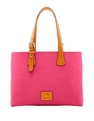Dooney And Bourke Patterson Leather Hanna Tote Hot Pink