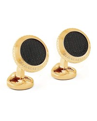 Ermenegildo Zegna Round Pyramid Cuff Links Black Golden