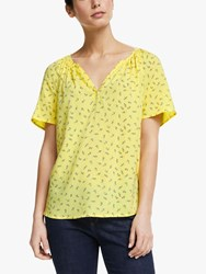 John Lewis Collection Weekend By Lavna Emila Floral Blouse Yellow Multi