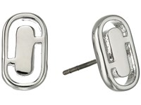 Marc Jacobs Icon Cut Out Studs Earrings Silver
