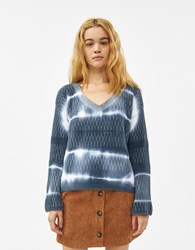 Which We Want Payton Tie Dye Sweater Blue