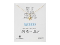 Dogeared Take Me To The Ocean Medium Starfish Necklace Gold Dipped Necklace