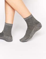 Asos Metallic Rib Socks Rainbow