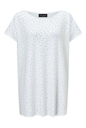 James Lakeland Studded Front Top White