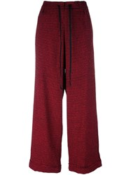 Ultrachic Wide Leg Trousers Red