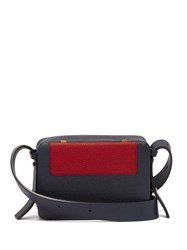 Lutz Morris Maya Intarsia Square Front Crossbody Bag Red Navy