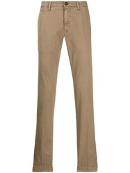 Jacob Cohen Straight Leg Trousers Brown