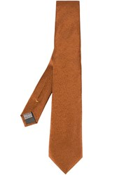 Canali Jacquard Tie Yellow And Orange