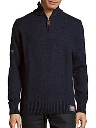 Superdry Pommel Long Sleeve Pullover Total Eclipse