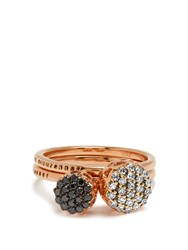 Selim Mouzannar Diamond And Pink Gold Beirut Rings