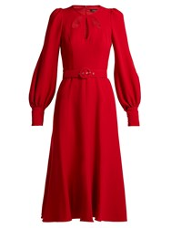 Andrew Gn Cut Out Crepe Midi Dress Red