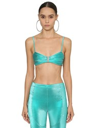 Area Embellished Lame Bralette Array 0X59692d0