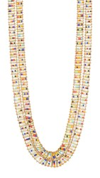 Serefina Long Ladder Necklace Gold Multi