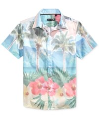 Ocean Current Men's Enigma Tropical Print Short Sleeve Shirt