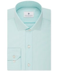Ryan Seacrest Distinction Slim Fit Non Iron Solid Dress Shirt Pool