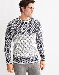 Only And Sons Mens Crew Neck Jumper White