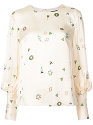 Creatures Of The Wind Geometric Print Blouse White