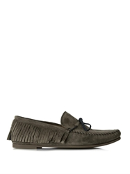 Tomas Maier Fringed Suede Loafers