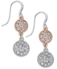 Charter Club Two Tone Pave Disc Drop Earrings Only At Macy's Two Tone