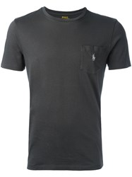 Polo Ralph Lauren Logo Pocket T Shirt Grey