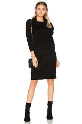 Bobi Cashmere Cowl Neck Sweater Dress Black