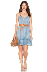 Blank Nyc Lace Up Back Mini Dress In Next Blue