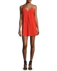 Alice Olivia Fierra Crepe Y Back Tank Dress Bright Red