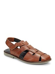 Bacco Bucci Palma Leather Sandals Tan