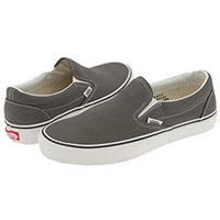 Vans Classic Slip On Core Classics Charcoal Canvas Shoes Gray