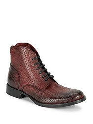 Robert Graham Leeds Lace Up Leather Boots Boro