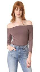 L'agence Maria 3 4 Sleeve Off Shoulder Top Peppercorn