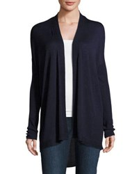 Neiman Marcus Drop Shoulder Open Front Cardigan Sand