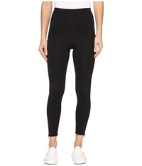 Hue Side Zip Active Shaping Skimmer Black Women's Casual Pants