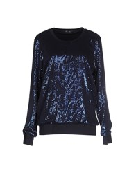 Odi Et Amo Topwear Sweatshirts Women Dark Blue