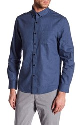 Kenneth Cole Long Sleeve Slim Fit Flannel Shirt Blue