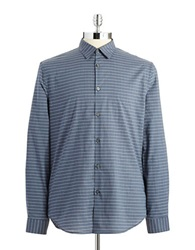 John Varvatos U.S.A. Checkered Button Down Shirt Lake Blue
