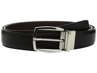 Torino Leather Co. 35Mm Italian Soft Calf Reversable Black Brown Men's Belts