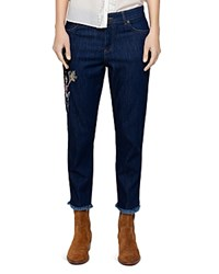 Zadig And Voltaire Boyfit Denim Deluxe Jeans In Blue