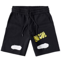 Off White Diagonals Spray Short Black