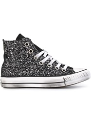 Converse 'All Star' Glitter Hi Top Sneakers Black