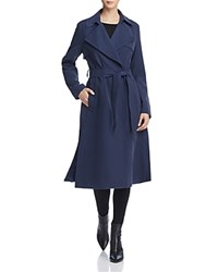 Cole Haan Player Button Front Trench Coat Navy