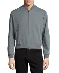 Cnc Costume National Zip Front Bomber Jacket Gray Grey