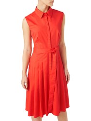 Precis Petite Demi Shirt Dress Mid Orange