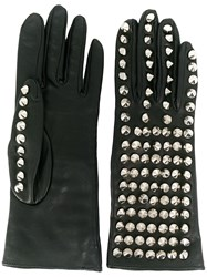 Manokhi Stud Detail Gloves Black