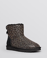 Ugg Australia Booties Mini Bailey Bow Glitter Black