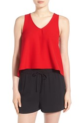 Women's Painted Threads Swing Tank Red