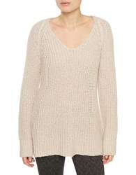 Sanctuary V Neck Knitted Pullover Champagne