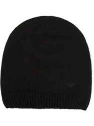 Emporio Armani Fitted Hat Black